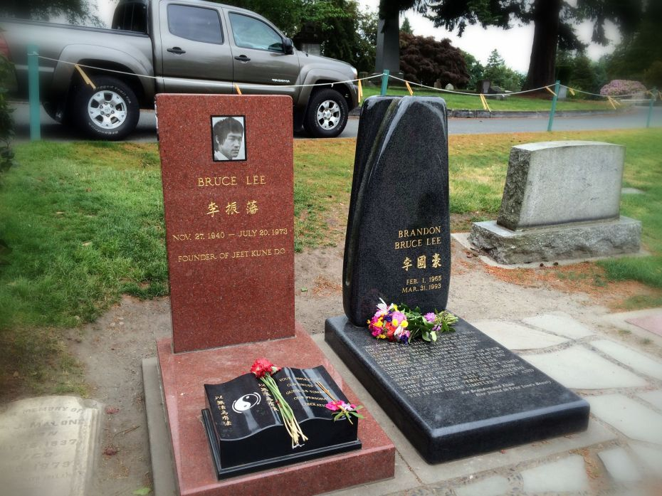 The final resting place of Bruce Lee and his son Brandon.